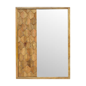 Pineapple Patterned Mirror Cabinet