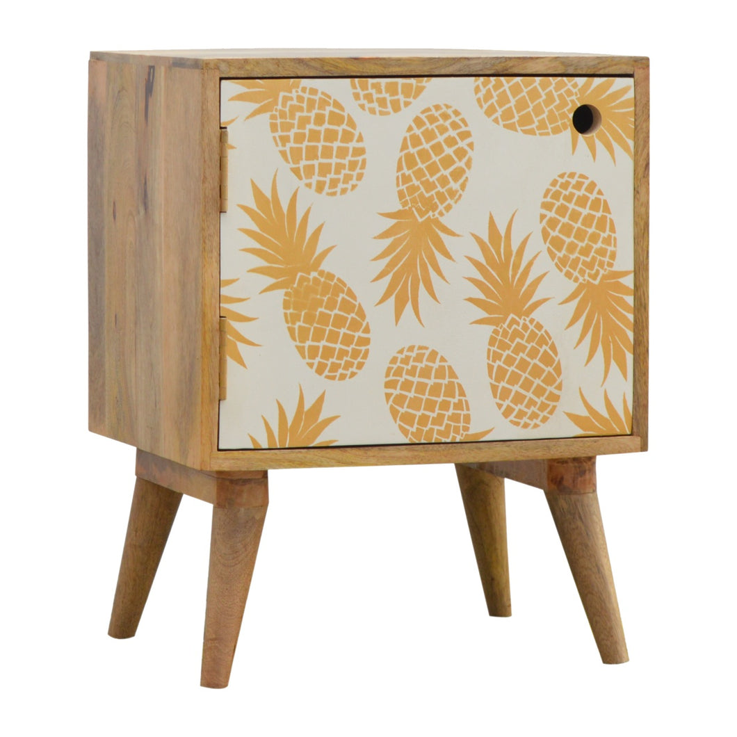 Pineapple Print Bedside Table