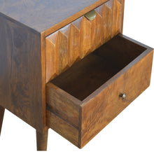 Load image into Gallery viewer, Chestnut Prism Bedside Table - 2 Drawers
