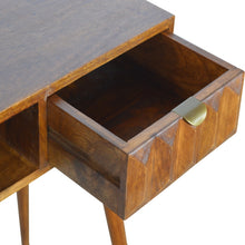 Load image into Gallery viewer, Chestnut Prism Writing Desk - 1 Drawer
