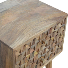 Load image into Gallery viewer, Dimond Carved Bedside Table - 2 Drawers