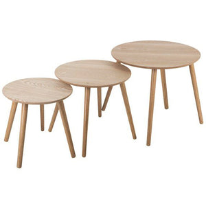 Nest of Three Round Tables