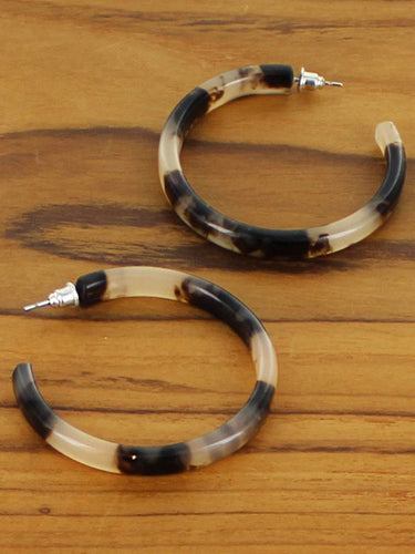 Thin Resin Hoop Earrings