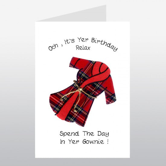 Dressing Gown Birthday Card