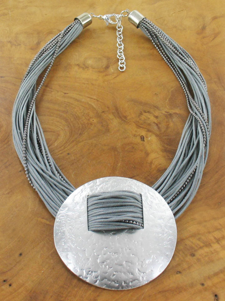 Beaten Disc Necklace