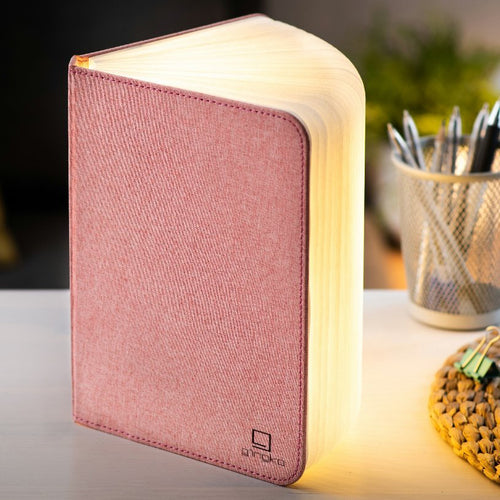 Pink Fabric Large Book Light
