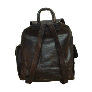 Large Dark Brown Leather Rucksack