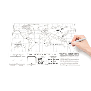 Travel Scratch Map Poster (Deluxe)