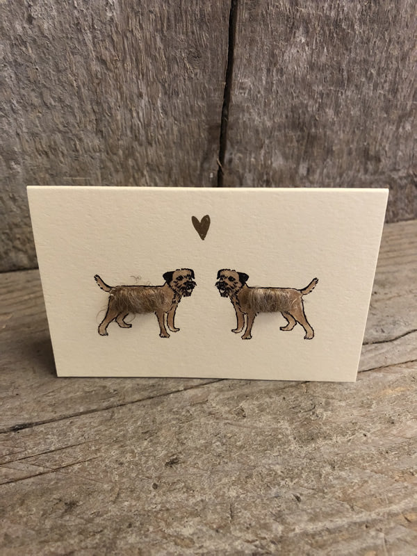 Border Terriers In Love Card