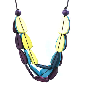 Blue and Lemon Jamesia Necklace