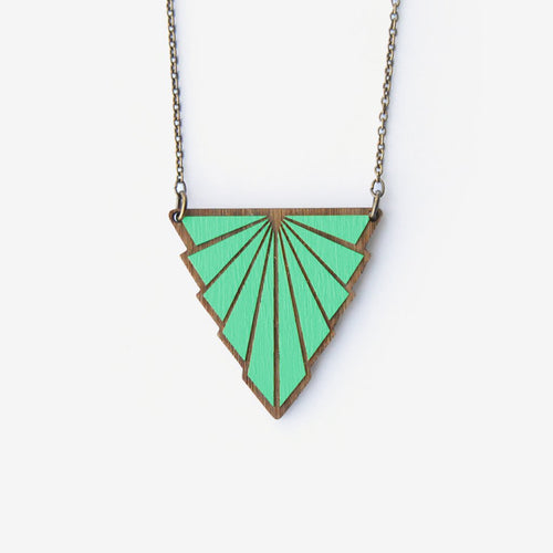 Teal Minou Art Deco Necklace