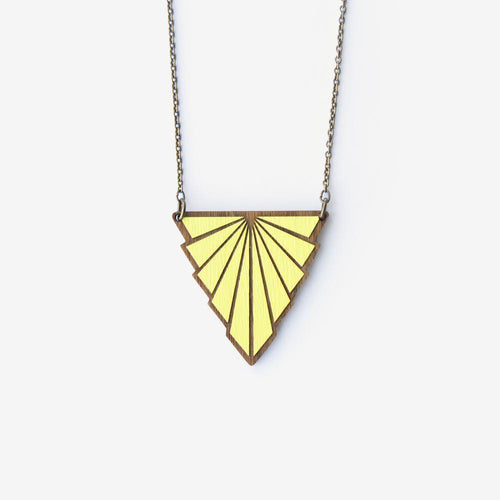 Lemon Minou Art Deco Necklace