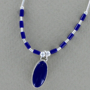 Oval Lapis Necklace