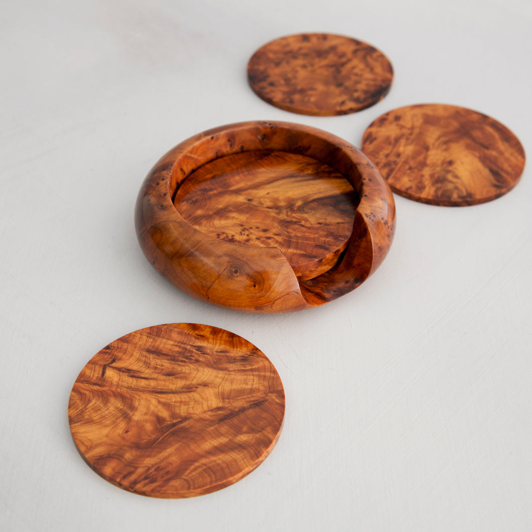 6 Coasters And Holder