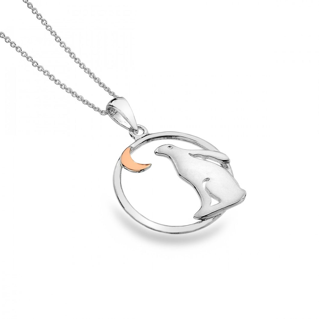 Hare And Moon Necklace