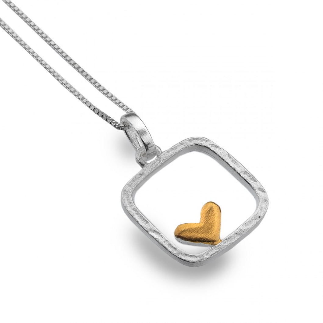 Heart in Frame Necklace