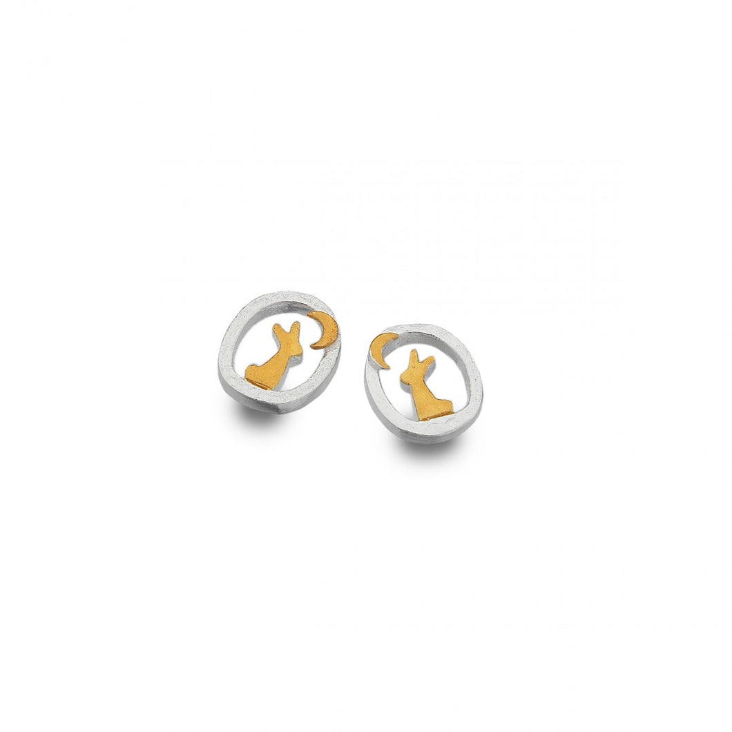 Moongazing Rabbit Earrings