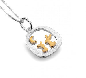 Rabbits in Frame Necklace