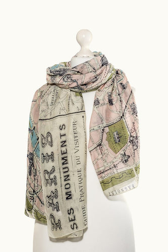 Paris Map Scarf