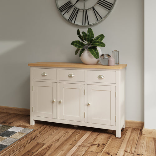 Dove Grey 3 Door Sideboard