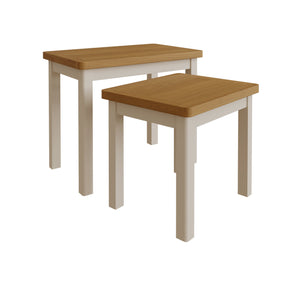 Dove Grey Nest Of 2 Tables