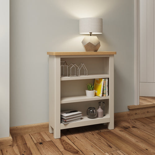 Dove Grey Small Wide Bookcase
