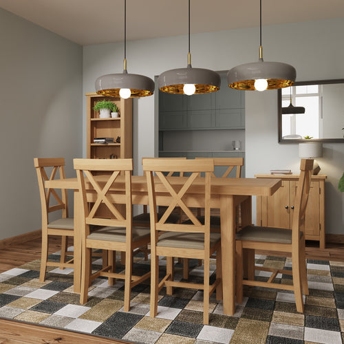Rustic Oak 1.2M Extending Table