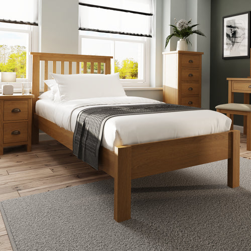 Rustic Oak 3'0 Bed