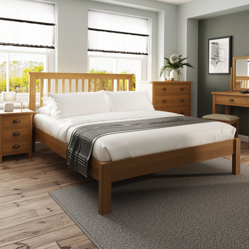 Rustic Oak 5'0 Bed