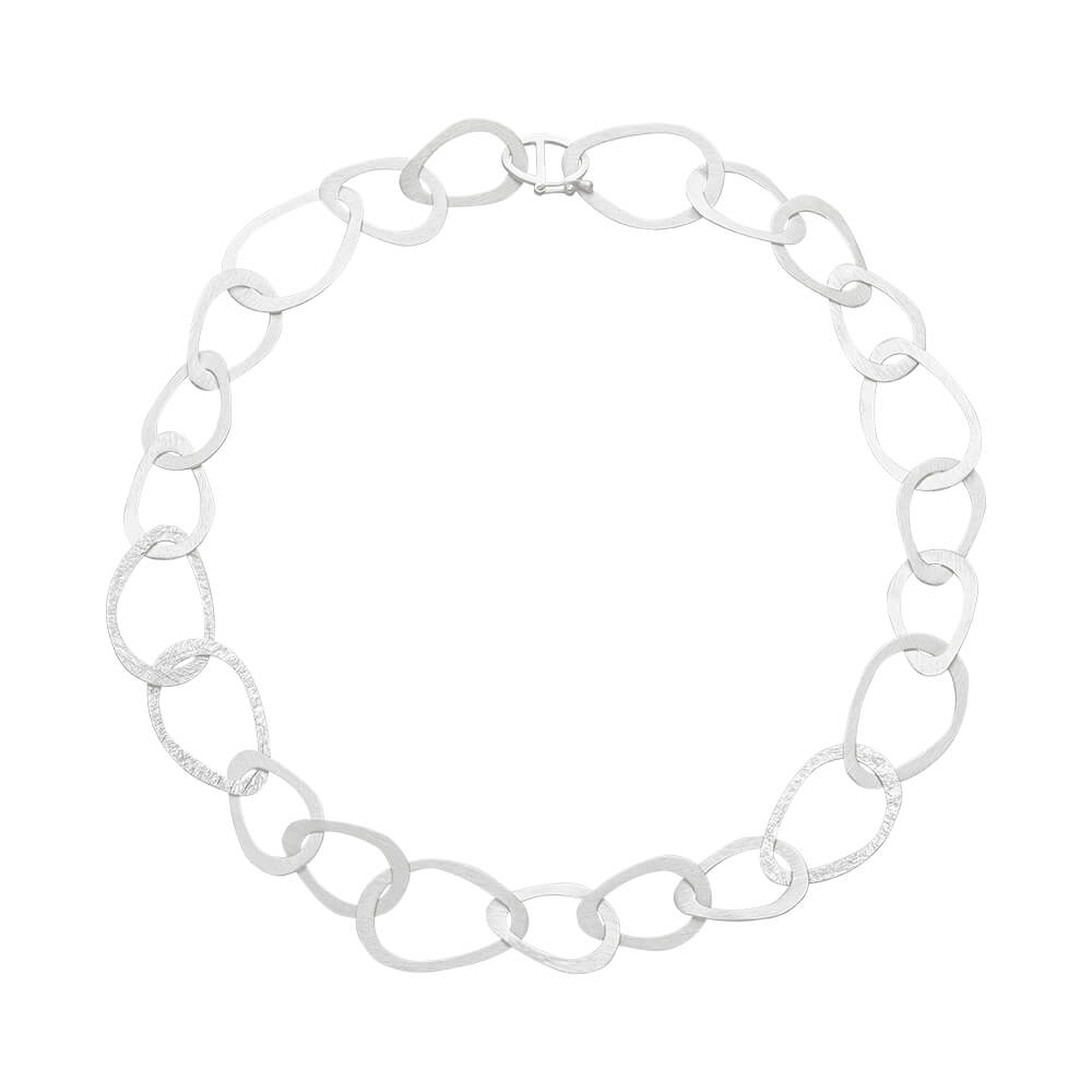 Silver Open Loop Necklace