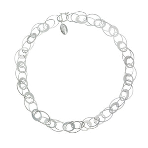 Silver Linked Circle Necklace