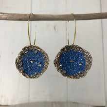 Load image into Gallery viewer, Blue Disc Earrings