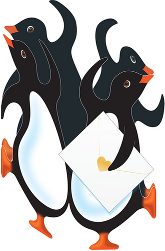Party Penguin Card
