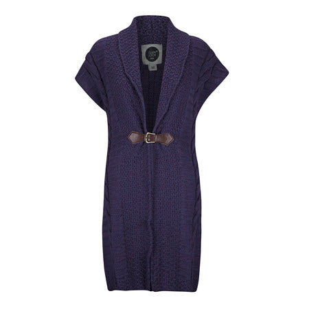 Purple Buckle front Cardigan