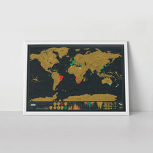 Load image into Gallery viewer, Scratch Map Poster (Deluxe)