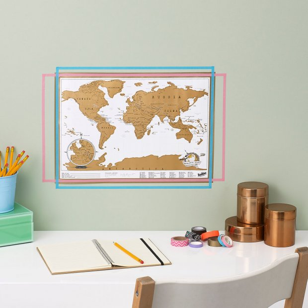 Travel Scratch Map Poster