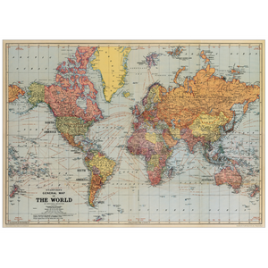 World Map Giftwrap