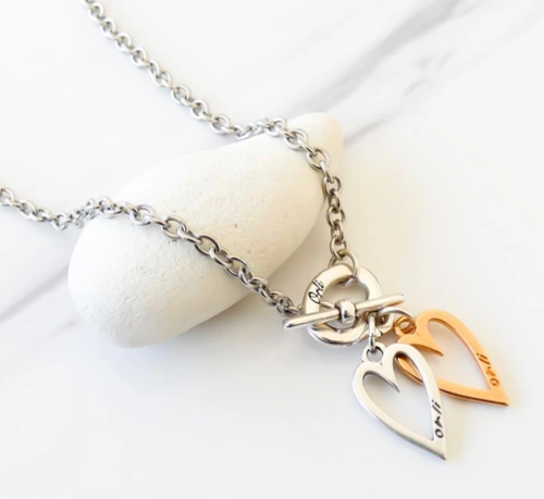 Twin Mini Hearts Necklace