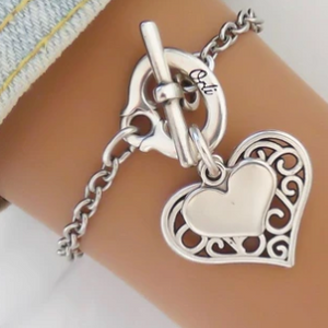 Filigree Heart Bracelet
