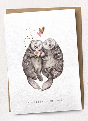 Otterley In Love Card