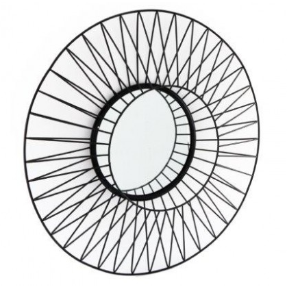 Black Wire Mirror