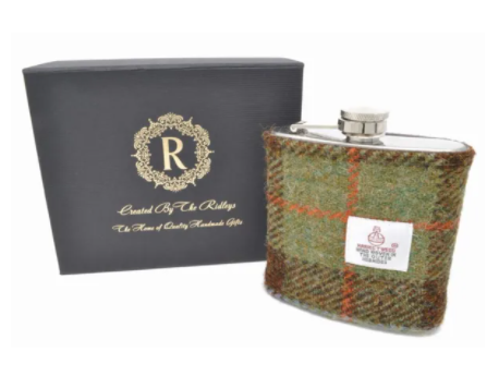 Harris Tweed Hip Flask -MacLeod