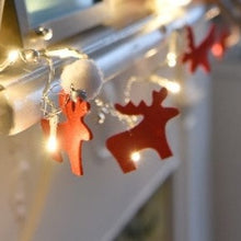 Load image into Gallery viewer, Felt Reindeer Fairy Lights