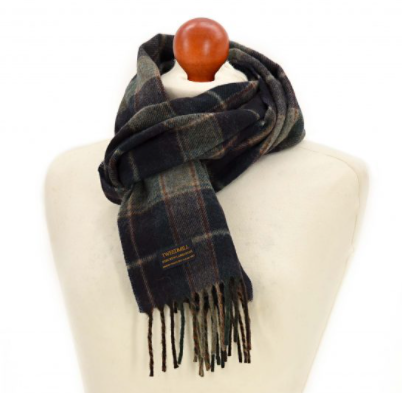 Navy Country Check Scarf