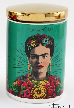 Green Frida Kahlo Canisters