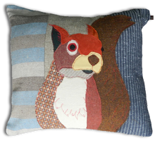 Load image into Gallery viewer, Squirrel Embroidered Cushion