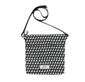 Grey Triangle Oil Cloth Bag