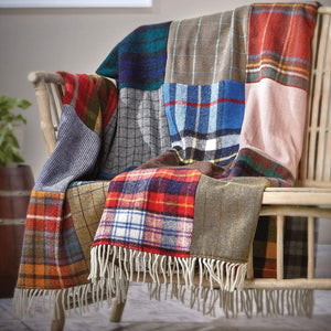 Tartan & Tweed Patchwork Wool Throw