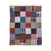 Load image into Gallery viewer, Tartan & Tweed Patchwork Wool Throw