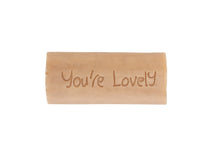 "Load image into Gallery viewer, ""You're Lovely"" Amber & Tonka Organic Soap"